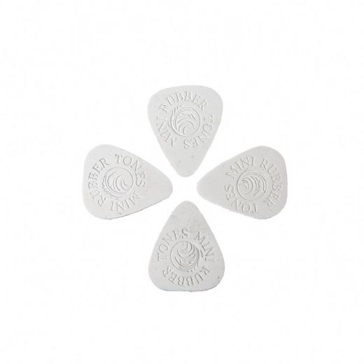 Rubber Tones Mini White Silicon Pack of 4 Guitar Picks